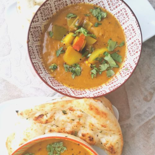 Leek and Potato Soup Bombay Style